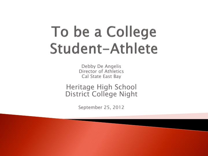 to be a college student athlete n.