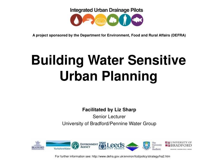 building water sensitive urban planning n.