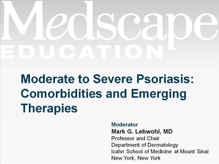 moderate to severe psoriasis comorbidities and emerging therapies n.