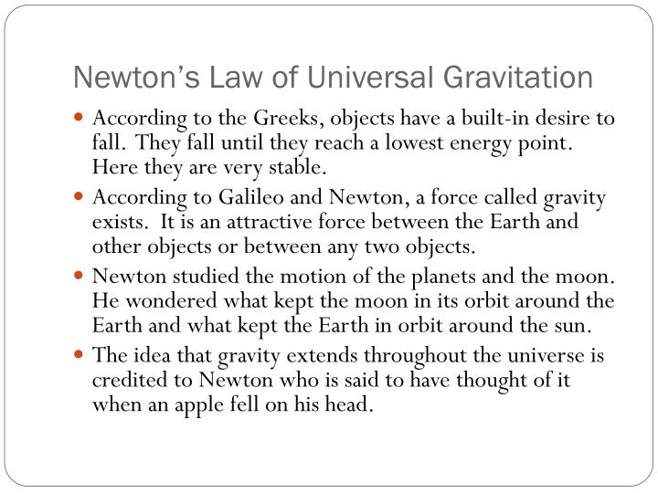 newton s law of universal gravitation n.