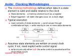 aside clocking methodologies
