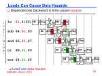 loads can cause data hazards