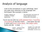 analysis of language