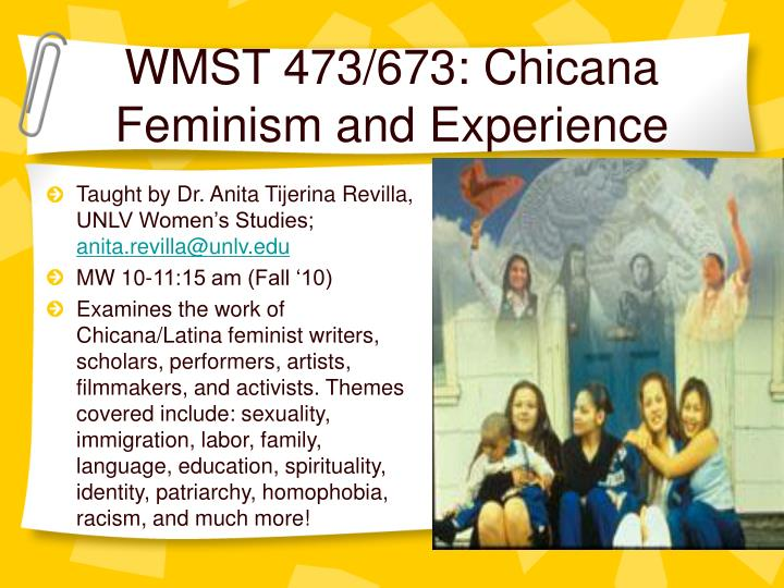 wmst 473 673 chicana feminism and experience n.