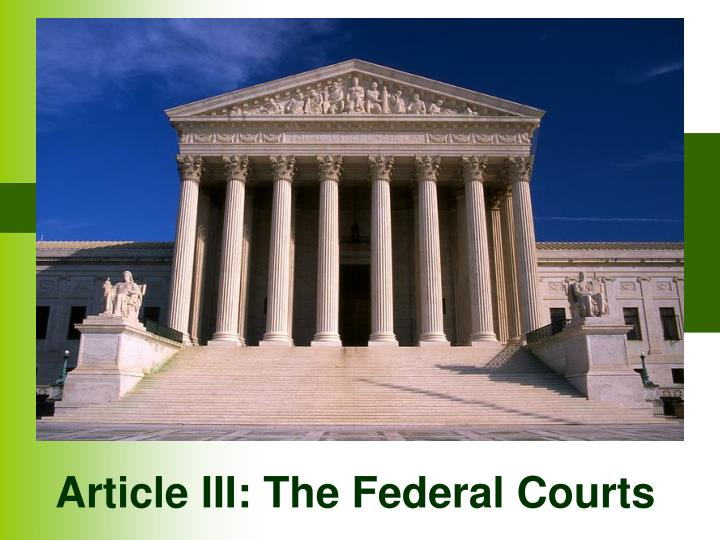 article iii the federal courts n.