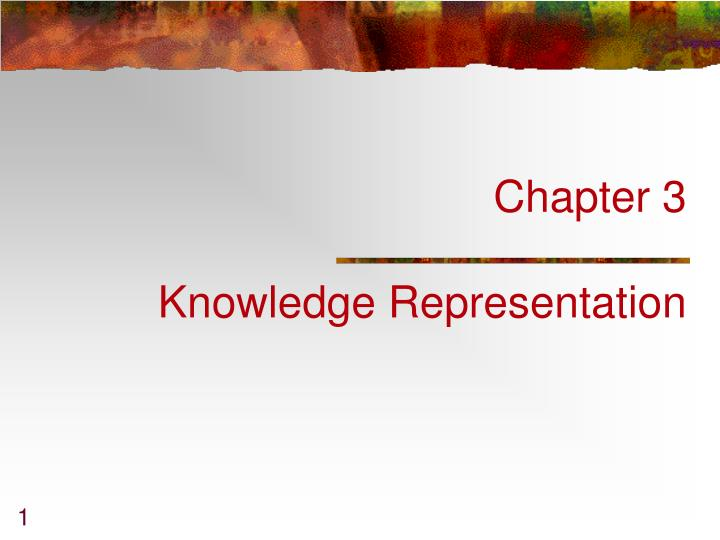 chapter 3 knowledge representation n.