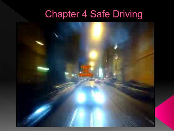 chapter 4 safe driving n.