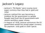 jackson s legacy