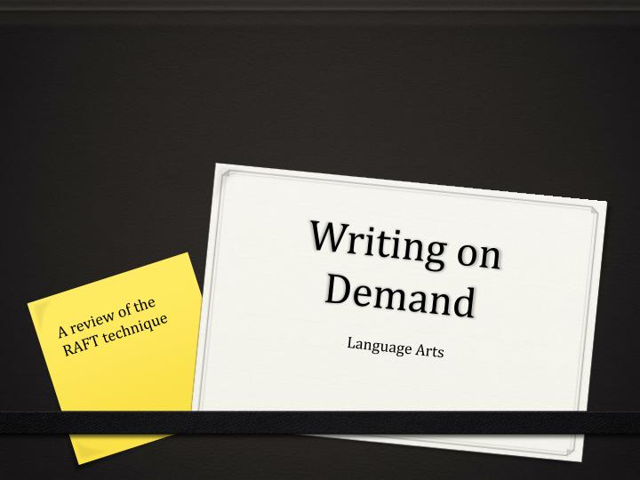 writing on demand n.