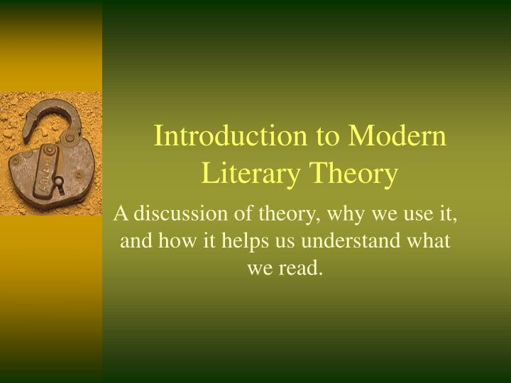 introduction to modern literary theory n.