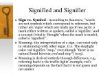 signified and signifier