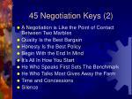 45 negotiation keys 2