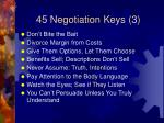 45 negotiation keys 3