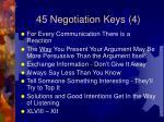 45 negotiation keys 4