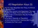 45 negotiation keys 5