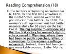reading comprehension 18