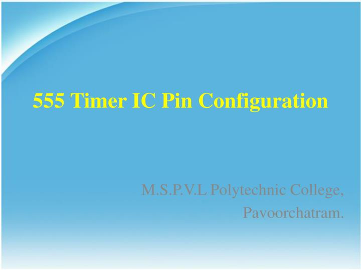 555 timer ic pin configuration n.
