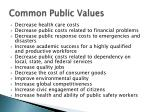 common public values