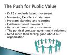 the push for public value
