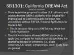 sb1301 california dream act vetoed by governor