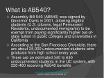 what is ab540