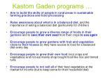 kastom gaden programs