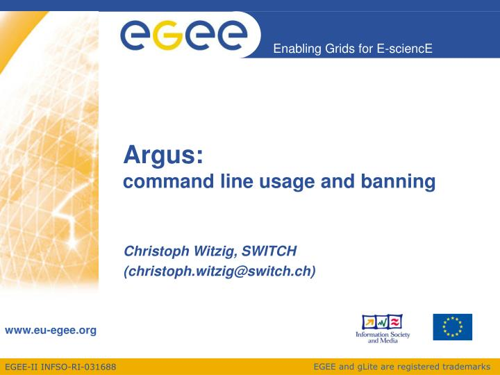 argus command line usage and banning n.