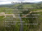 onshore pipelines