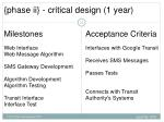 phase ii critical design 1 year
