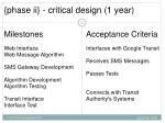 phase ii critical design 1 year