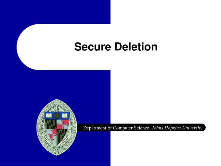 secure deletion n.