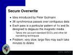 secure overwrite