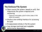 the ext3cow file system