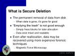 what is secure deletion