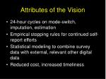 attributes of the vision