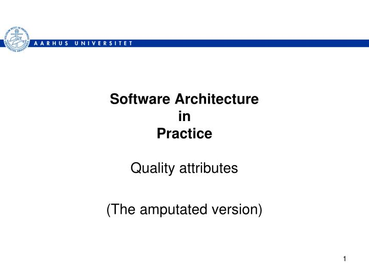 software architecture in practice n.
