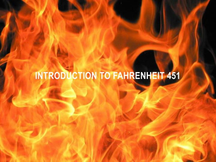 introduction to fahrenheit 451 n.