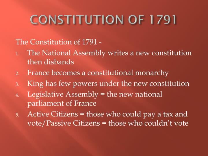 constitution of 1791 n.