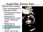 acute pain chronic pain