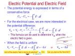 electric potential and electric field1