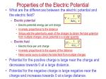 properties of the electric potential