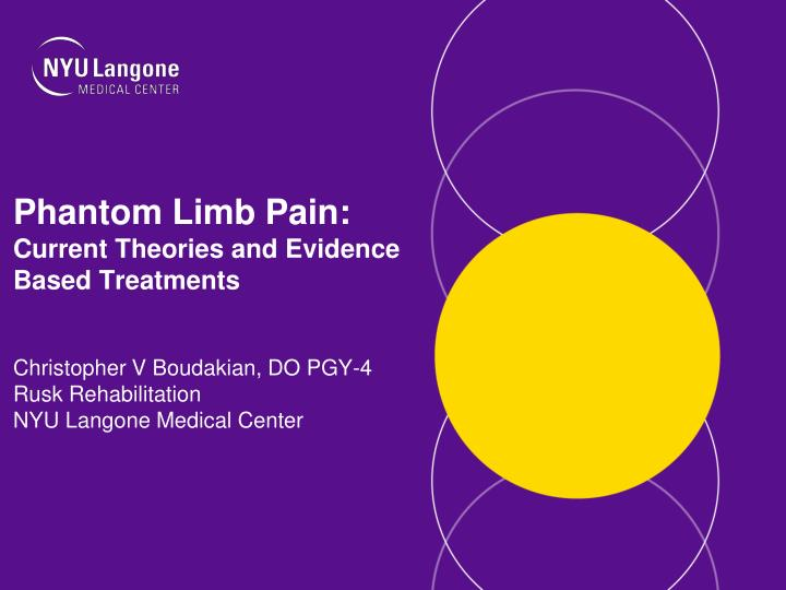 phantom limb pain current theories and evidence based treatments n.