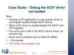 case study debug the ac97 driver not loaded