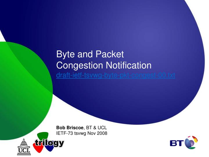 byte and packet congestion notification draft ietf tsvwg byte pkt congest 00 txt n.