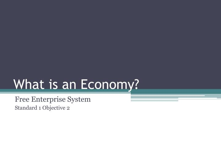 what is an economy n.