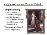 knighthood and the code of chivalry1