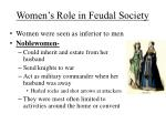 women s role in feudal society