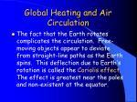 global heating and air circulation1