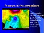 pressure in the atmosphere