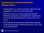 cardioversion of atrial fibrillation clinical issues2